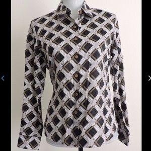 Foxcroft Wrinkle Free Blouse Button Down Shirt 10P